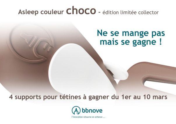 bbnove e-shop puériculture design - concept store made in france pour bébés asleep jeu concours bbnove choco chocolat