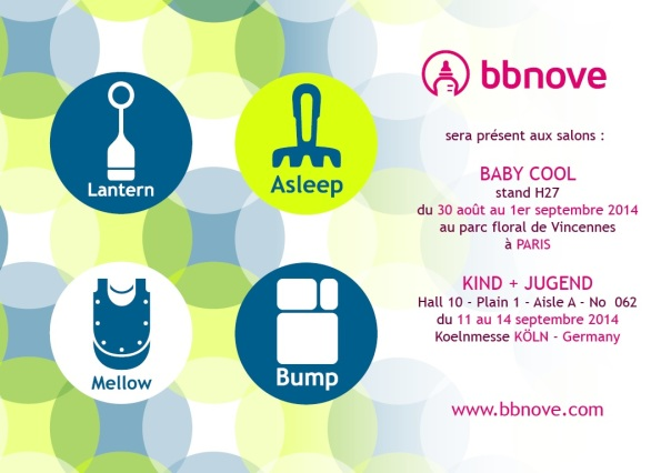 bbnove e-shop puériculture design - concept store made in france pour bébés Flyer bbnove salons