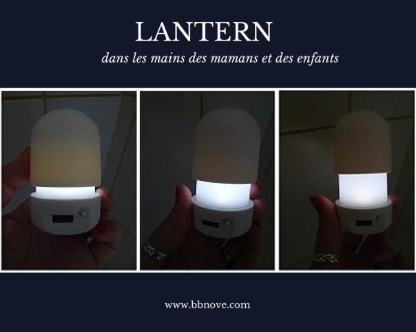 bbnove e-shop puériculture design - concept store made in france pour bébés La veilleuse Lantern dans les mains des enfants et des parents !