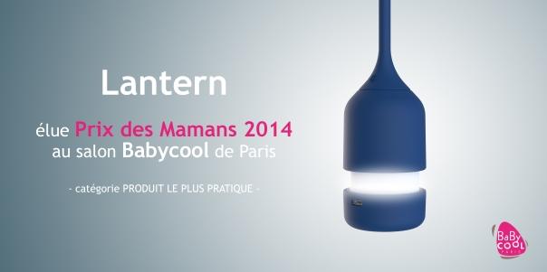 bbnove e-shop puériculture design - concept store made in france pour bébés La veilleuse Lantern bbnove élue prix des mamans baby cool 2014, produit le plus pratique