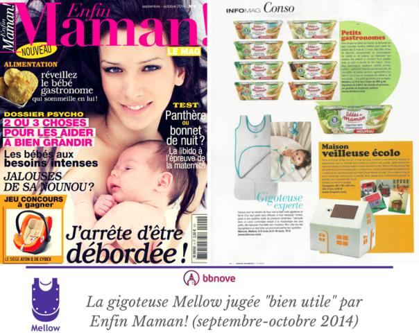 bbnove e-shop puériculture design - concept store made in france pour bébés Enfin maman! présente la gigoteuse Mellow (septembre 2014)