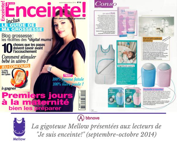 bbnove e-shop puériculture design - concept store made in france pour bébés Je suis enceinte! présente la gigoteuse Mellow (septembre 2014)