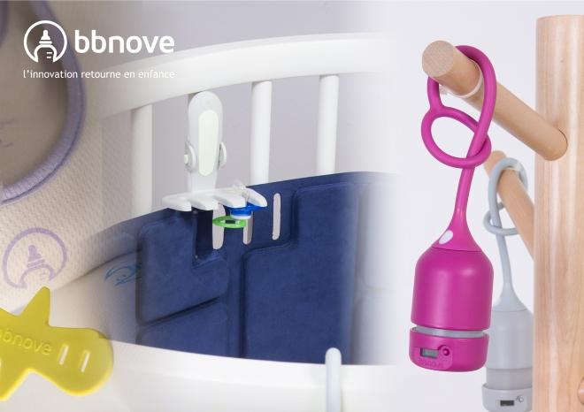 bbnove e-shop puériculture design - concept store made in france pour bébés Ici en bleu, le tour de lit Bump élimine à 100% le risque d'étouffement grâce à sa texture et son matériau